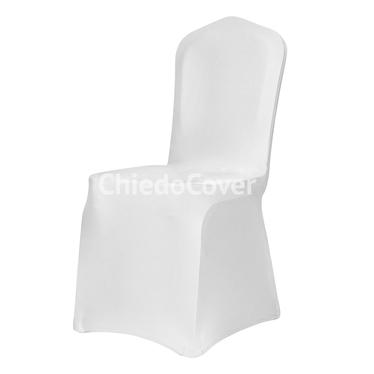 Чехол на стул 01, спандекс, белый